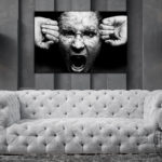 Tablou Canvas Angry Face